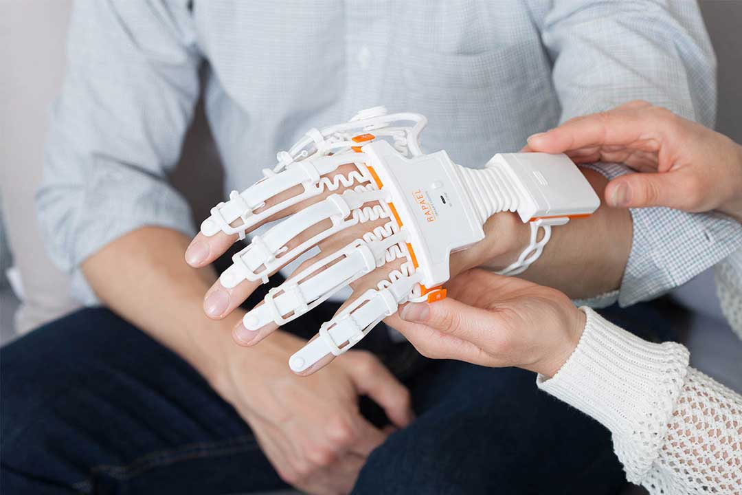 stroke exercises for hand with Smart Glove